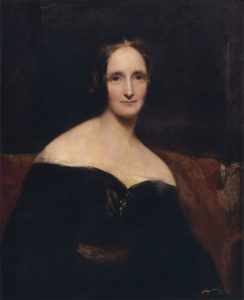 Mary Shelley, retrato de Richard Rothwell